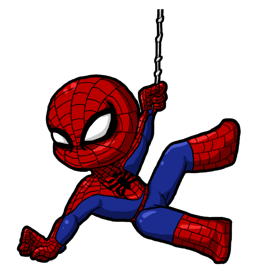 Cute Spiderman Clipart.