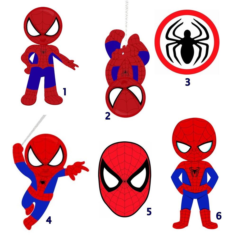 Apliques recortados Homem Aranha Cute.