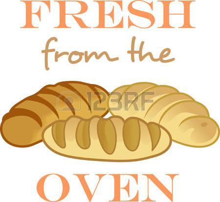 Homemade bread clipart.
