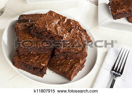 Stock Image of Fresh Homemade Chocolate Brownie k11807915.