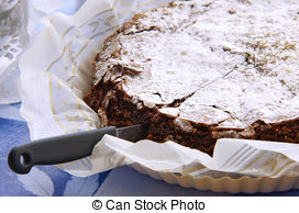 Stock Photo of plate of homemade brownies.