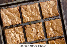Stock Images of Homemade Double Chocolate Chunk Brownies.