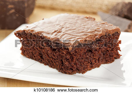 Stock Images of Fresh Homemade Brownie k10108186.