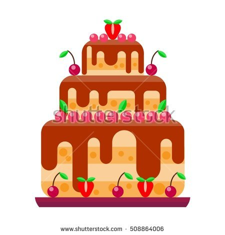 Brownie Cake Illustration Stock Photos, Royalty.