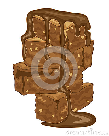 Homemade Brownies Stock Illustrations.