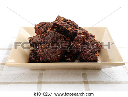 Picture of Homemade chocolate brownies k1010257.
