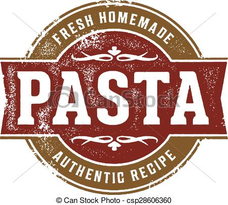 Clip Art Vector of Fresh Homemade Pasta.