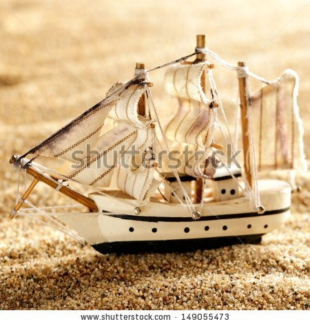 Homemade Toy Boat Stock Photos, Royalty.