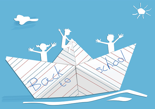 Cartoon Of A Homemade Toy Boat Clip Art, Vector Images.