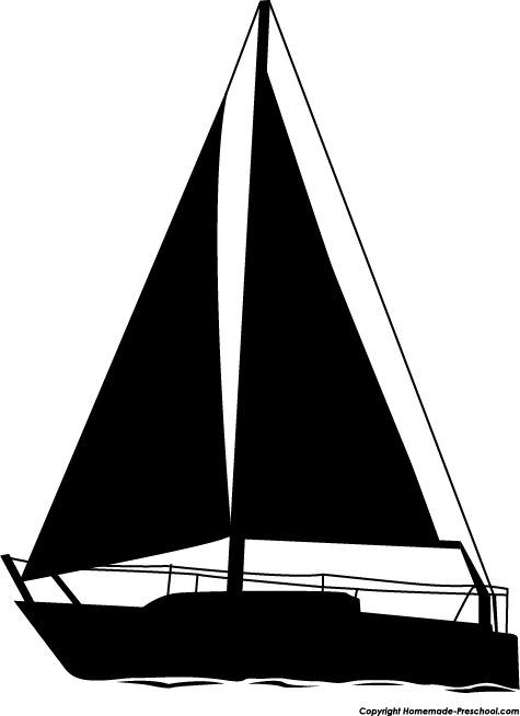 Sailboat Clipart Black And White Clipground