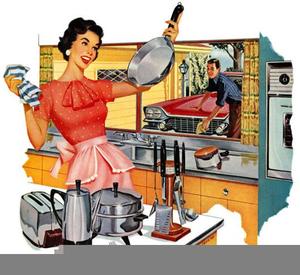 Retro Homemaking Clipart.