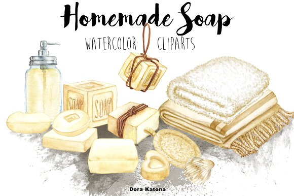 Homemade clipart soap images.