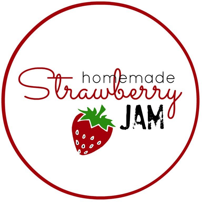 Homemade jam labels clipart.