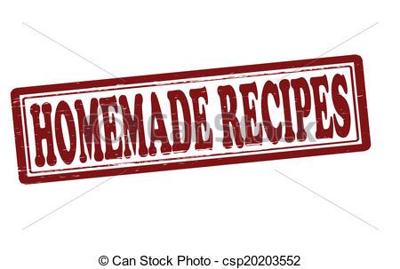 Vector Clipart of Homemade recipes.
