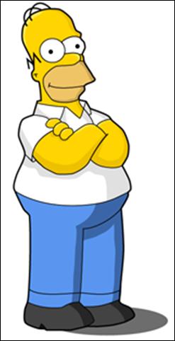 Homer simpson clip art.