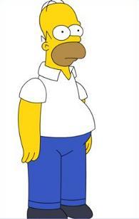 Homer Simpson Clipart.