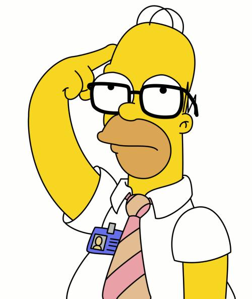 Homer Simpson Doh Clipart.