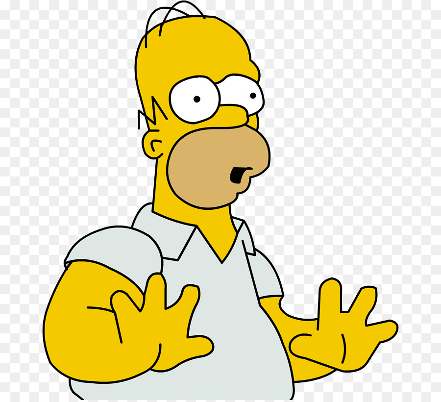 Homer Simpson Emotion png download.