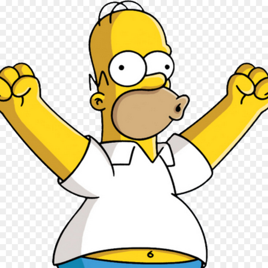 Homer Simpson Yellow png download.