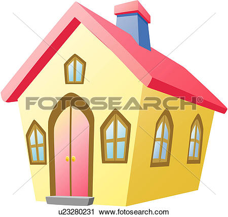Clipart of house, housing, modern architecture, logo, icon.