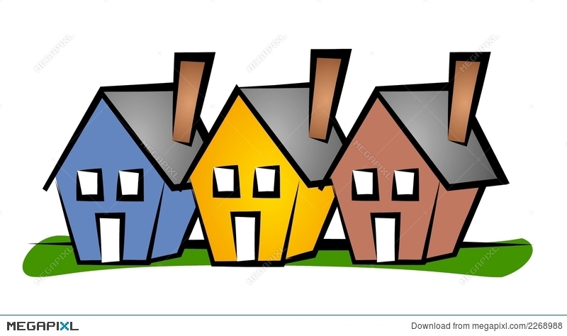 Row Of Houses Clip Art House Illustration 2268988.