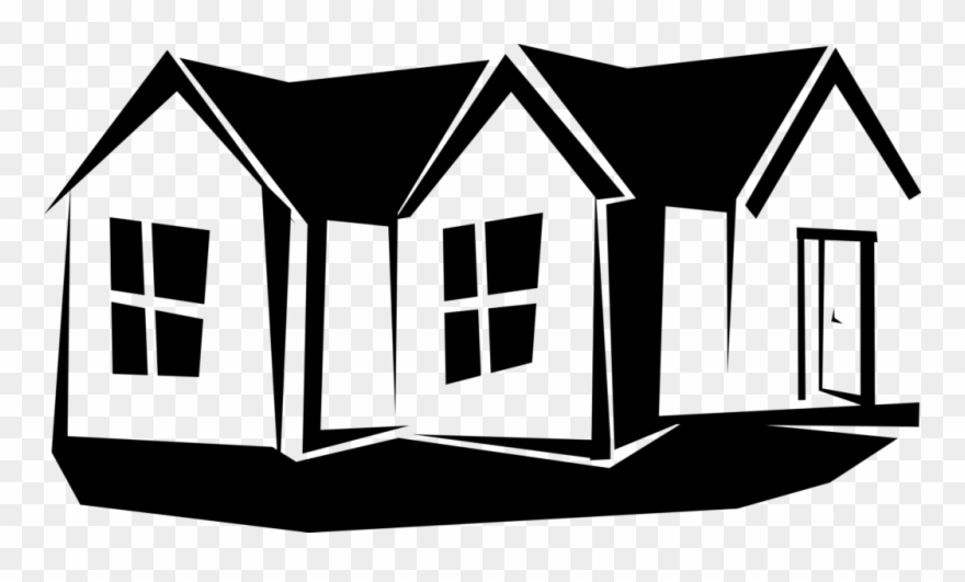 Brick House Clipart Black And White.