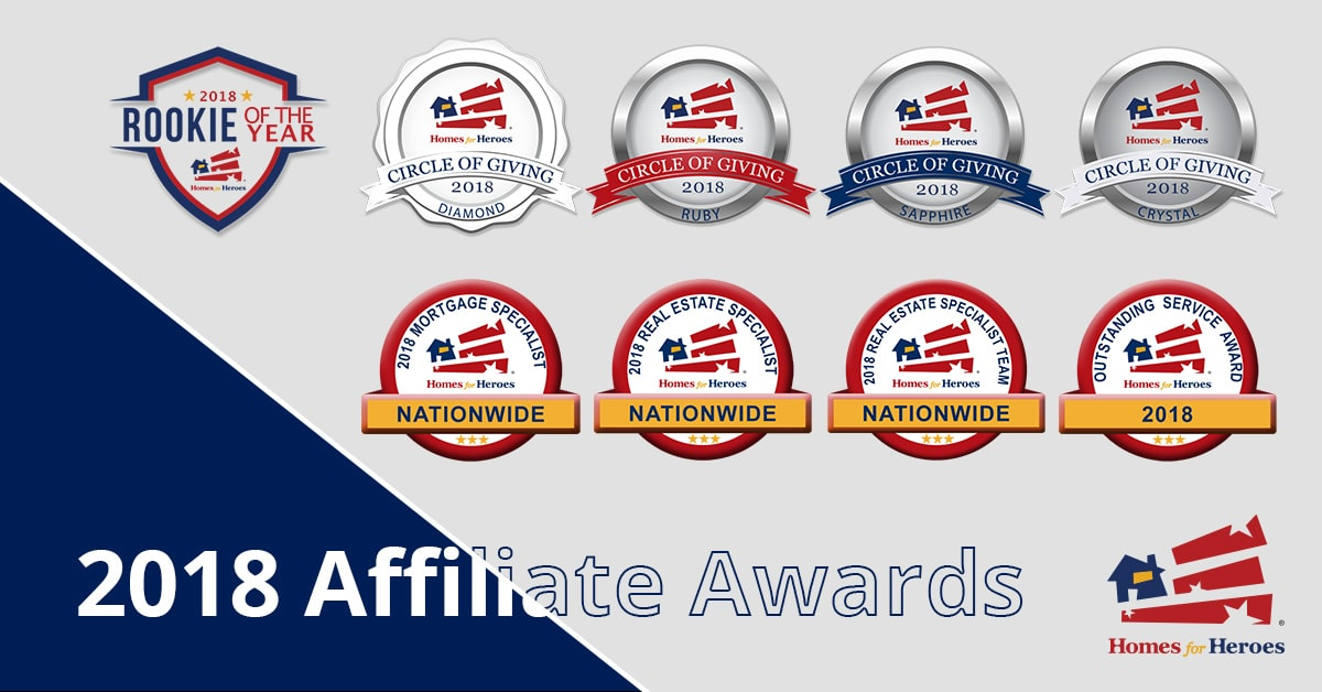 2018 Homes for Heroes Affiliate Awards.