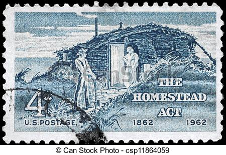 Homestead act clipart.