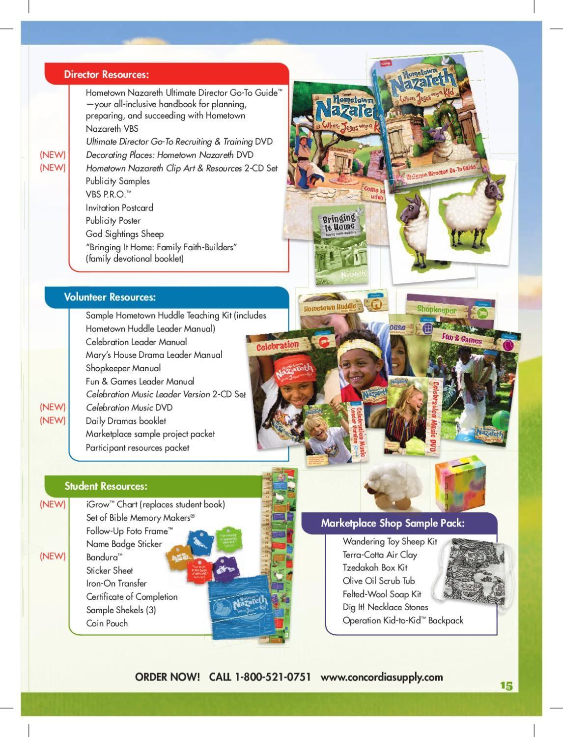 Hometown Nazareth VBS Catalog.