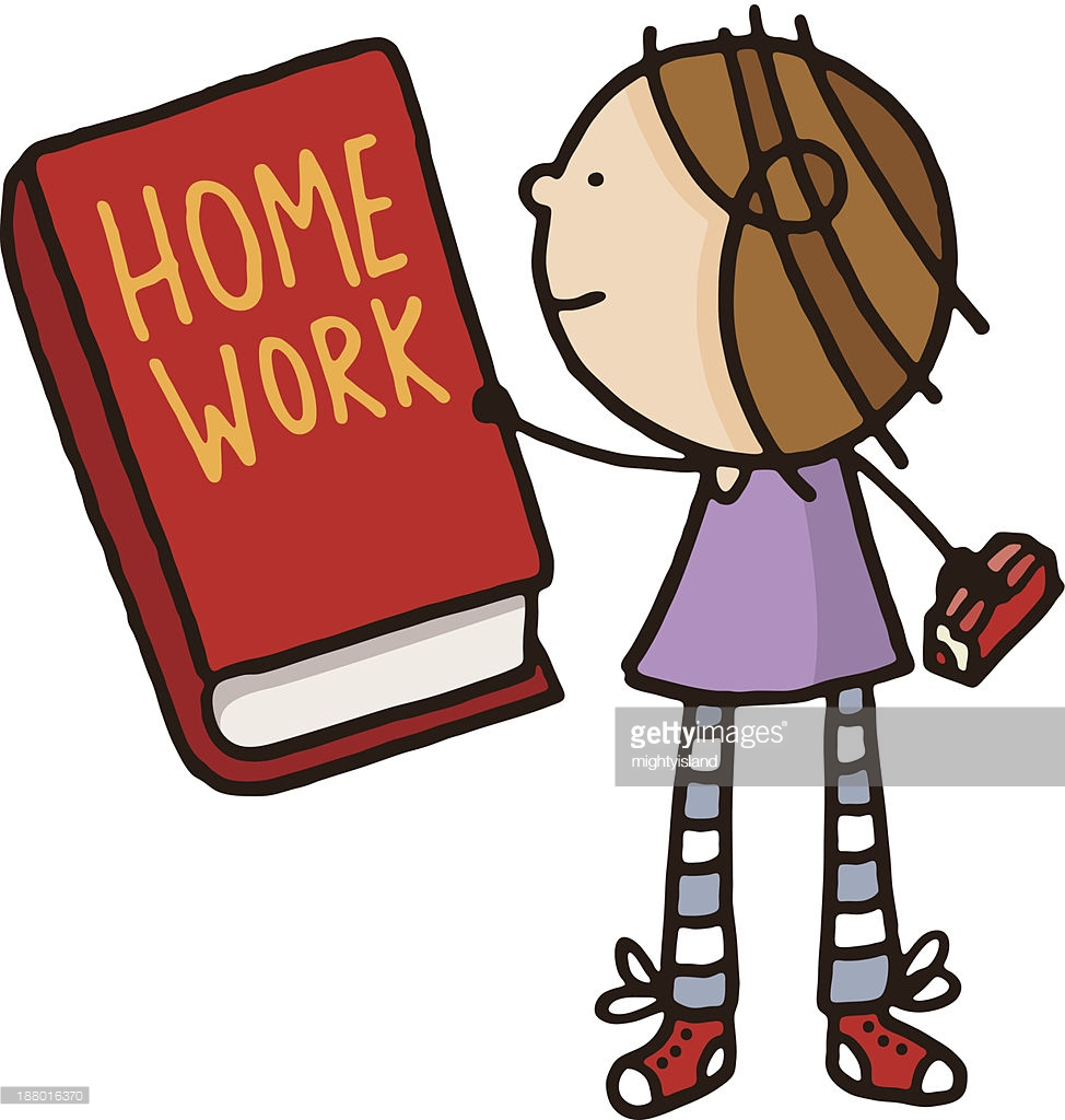Clipart homework homework book.
