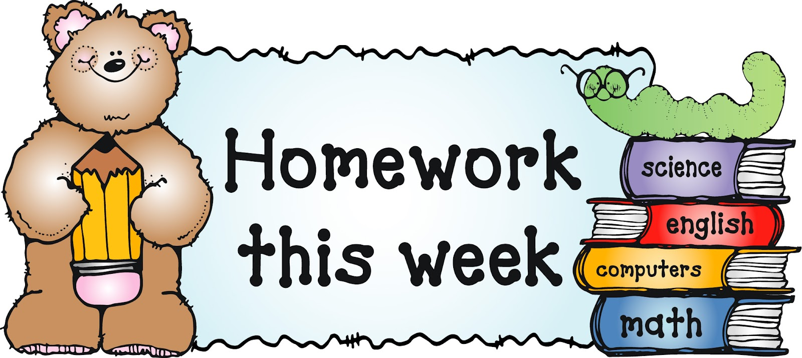 Homework clip art for kids free clipart images 6.