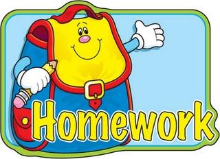 Clipart of homework.