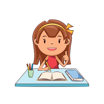 Free clipart girl doing homework clipart collection homework.