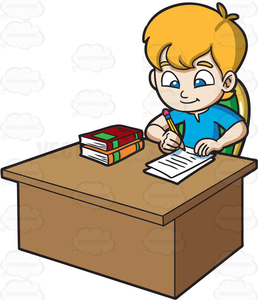 Free Clipart Of Child Doing Homework.
