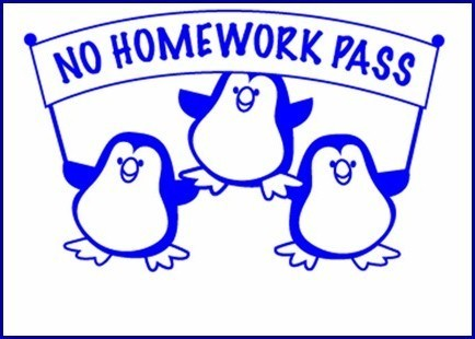 Homework pass clipart.