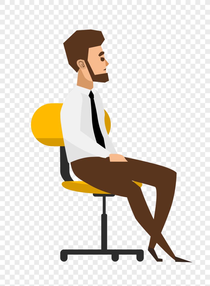 Photo de homme assis sur une chaise_Numéro de l.