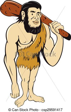 Homo sapiens neanderthalensis Vector Clipart Illustrations. 12.