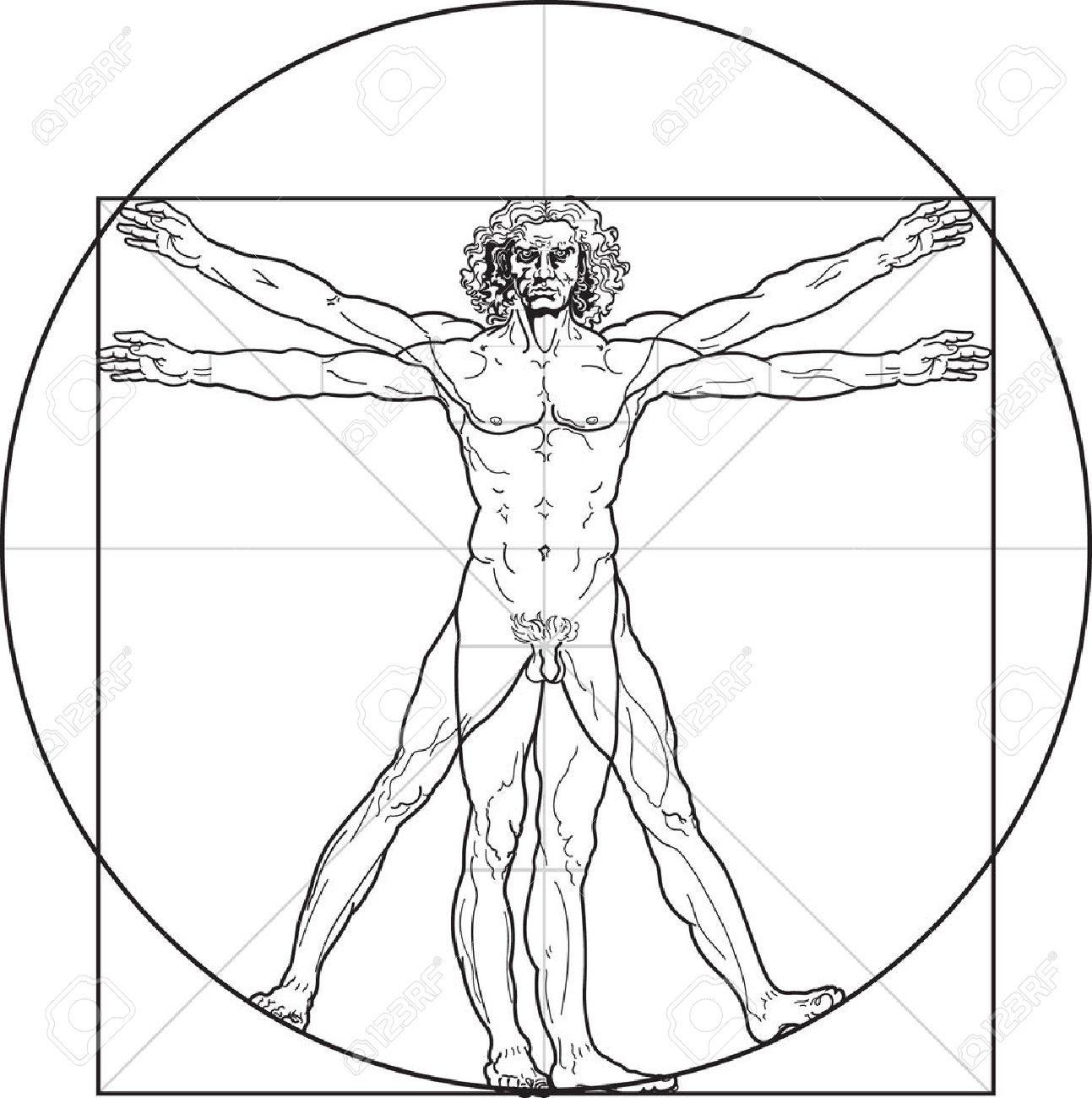 L'uomo Vitruviano, O Almeno Così Ha Chiamato L'uomo Di Leonardo.