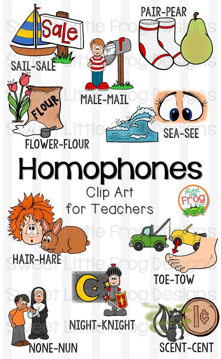 Homophones Clip Art.