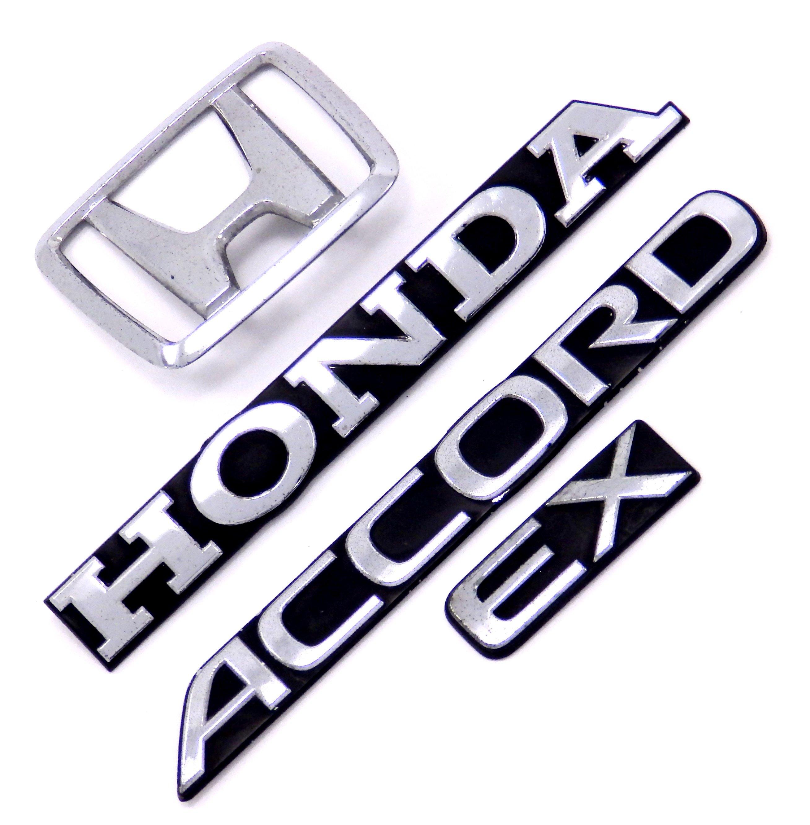 HONDA ACCORD EX 2DR 4DR OEM TRUNK EMBLEM SET 90 91 REAR.