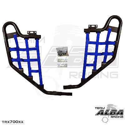 TRX 450R TRX450R Honda Nerf Bars Alba Racing Black bar Black nets.
