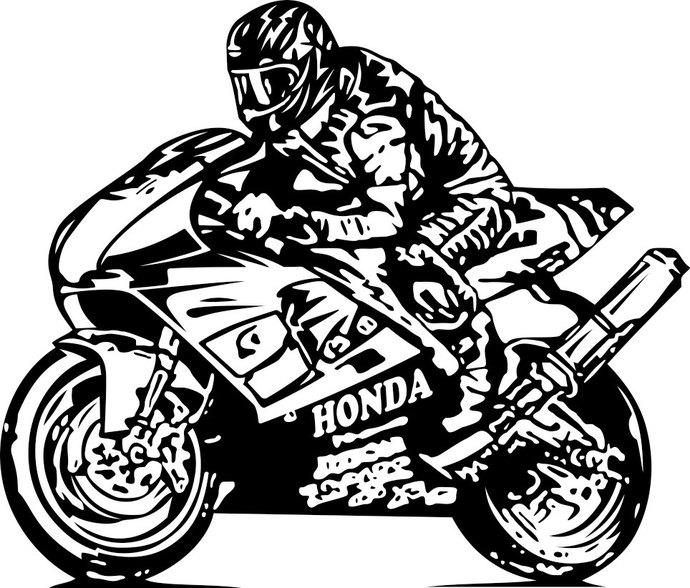 Sport Motor Bike Honda Speed graphics design.