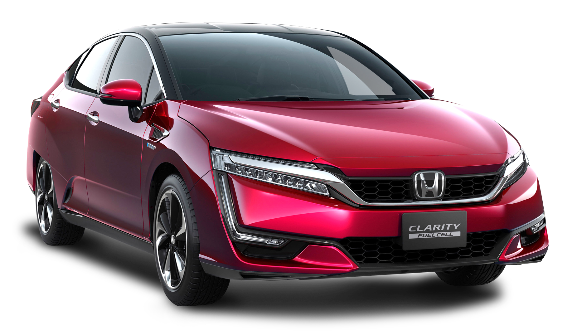 Red Honda Clarity Car PNG Image.