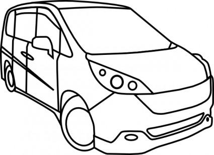 Honda city car clipart.