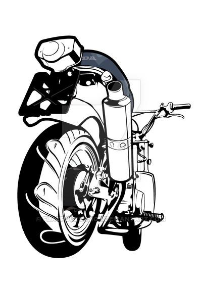 Honda dax clipart #7