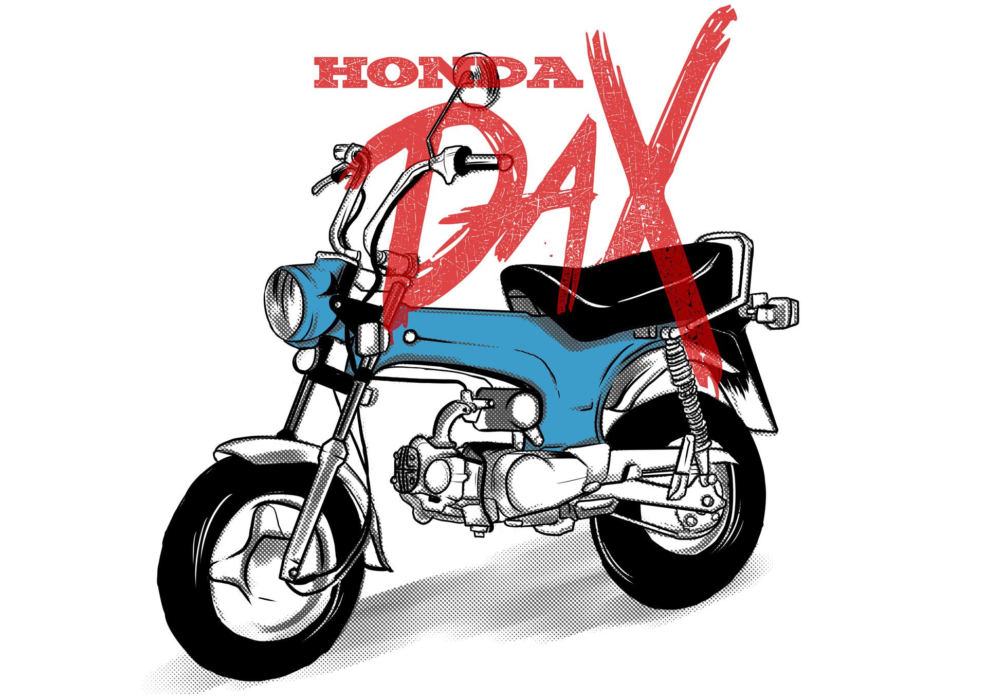 Honda dax clipart #6
