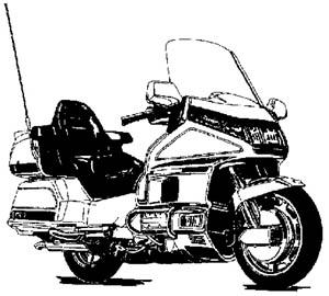 Honda Goldwing Motorcycle Clipart.