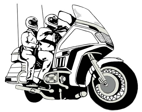 Goldwing Motorcycle Clipart.