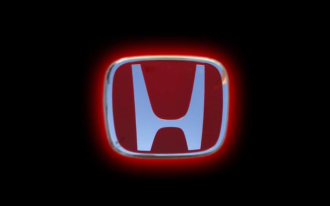 red Honda logo.