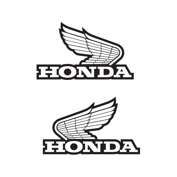 Printed vinyl Pair Of Honda Wings Logo.